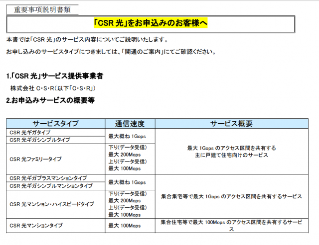 CSR光3